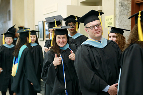 Warner school graduates lining up for commencement
