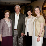 From left to right: Susan Hetherington, Tom Golisano, Ann Costello, and Martha Mock
