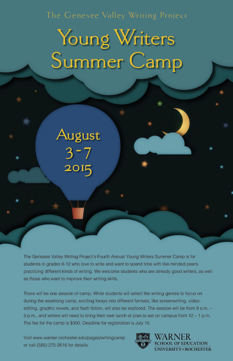 Young Writers Camp Poster