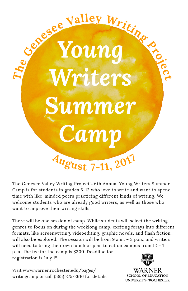 writing summer camps A good creative writing camp is often offered in conjunction with other arts such as theater, dance and so onsummer writing camps are usually geared toward slightly older children, usually those who are in their teens the curriculum typically read more.