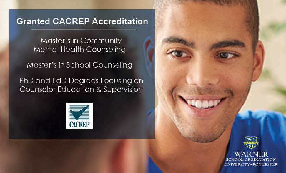 CACREP image with accredited Warner School programs