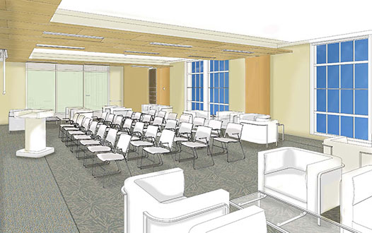 Artists Rendering of LeChase Hall