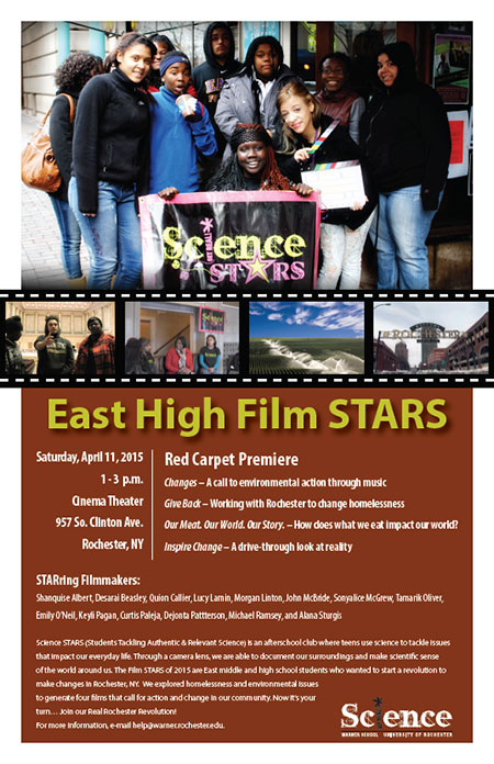 science stars poster for upcoming red carpet premiere